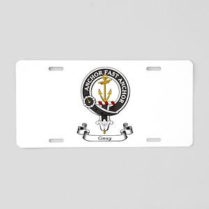 Badge-Gray [Perth] Aluminum License Plate